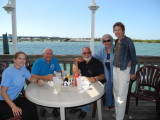 Lunch on the water with Jose Castro and Genie's assistant
