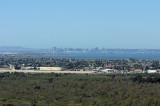San Diego north from Border Field State Park hilltop