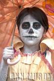 Calavera Girl with Umbrella