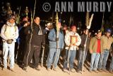 Pilgrims in front of La Casa del Pueblo
