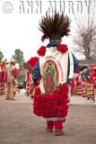 Back of Azteca Chichimeca Dancer