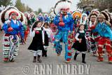 Guadalupana Azteca Dancers in Procession