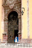 Nun in doorway at La Concepción