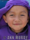 Boy in purple