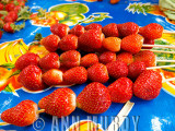 Strawberries in the market