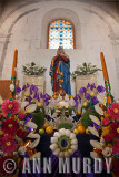 Madre Dolorosa altar with candles