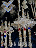Natural straw palm weavings