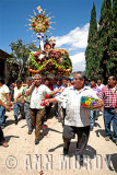 Carrying processional float to church