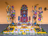 Aztec altar at the Casa Cultura in Puebla