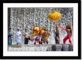 Barong dance at waterfall 2