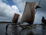 Negombo'da Katamaranlar