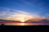 West meadow-April sunset