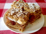 Hazelnut shortcrust pastry with apples and crasins