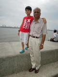 With Nanu on Marine Drive