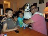 With pals Vansh, Viraj, Muddy Waters, and Rahul Uncle