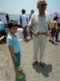 With Nanu at Nariman Point