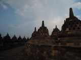 Rainbow above Borobudur