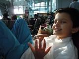Having fun at Jolly Grant airport
