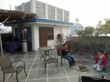 With friend Sachin