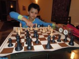 First chess game with a clock