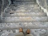 Steps to Mount Merapi underground bunker, Java (2013)