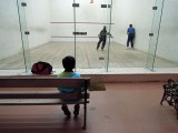 First time seeing squash played (and completely disinterested)