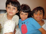 With friends Jaden and Sachin