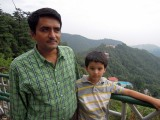 Raju and Rahil at Woodstock school in Mussoorie