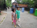 Prospect Park Zoo with friend Madhuvai