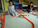 Hot Wheels race with Avya