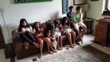 Bored birthday party kids