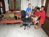 With pals Edvard, Sachin, Bas, Magnus, and Coco -- playing Minecraft
