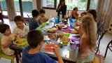Dinner with neighborhood kids