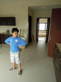 Examining the kitchen