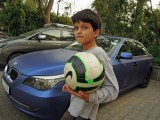 Off to play football in the park