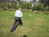 Football in the park with Nanu