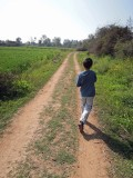 Exploring the back roads of Orchha