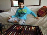 First time playing backgammon
