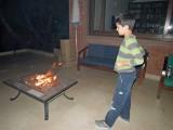 Preparing to roast marshmallows