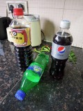 Fake Diet Pepsi from Sprite and soy sauce