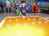 First time playing air hockey