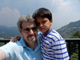 Rahil and Dad in Mussourie