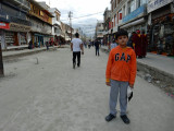 Leh Bazaar without cars!  Bliss!
