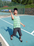 First time playing tennis