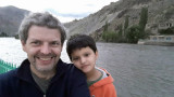 With Dad in Kargil on the Suru River