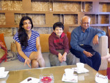 With Archana and Pops