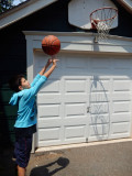 Shootin' some hoop at Aunt Molly's
