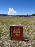 Forty Cartoon Books of Interest visits Old Faithful