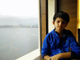 View from the Trident hotel overlooking Marine Drive in Mumbai