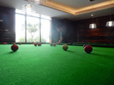Snooker in the clubhouse